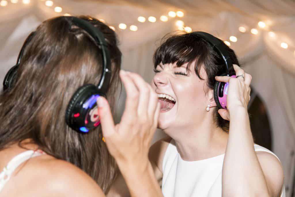 Hire Silent Disco Wedding reception entertainment