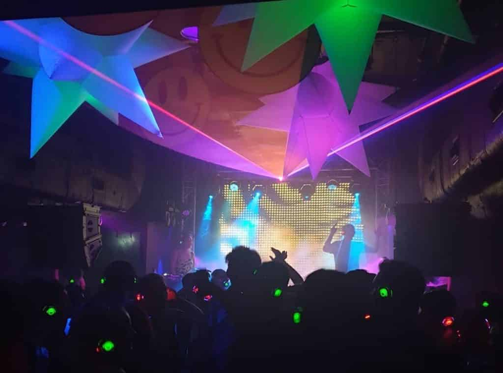 Silent disco club night uni students union