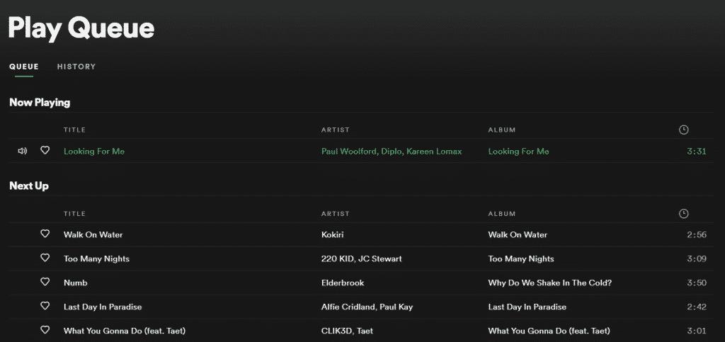 Spotify Queue Mode